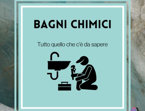 Bagni chimici: noleggio, installazione e manutenzione